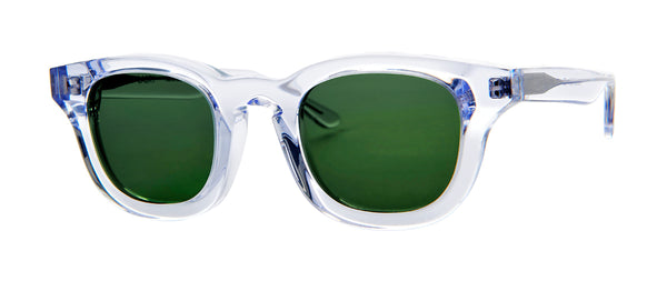 Thierry Lasry - Monopoly Clear Sunglasses / Solid Green Lenses