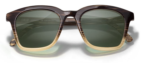 Sunski - Moraga Tortoise Forest Sunglasses / Green Lenses