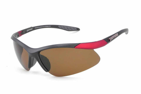 Peppers - Ricochet Grey + Red Sunglasses / Brown Polarized Lenses