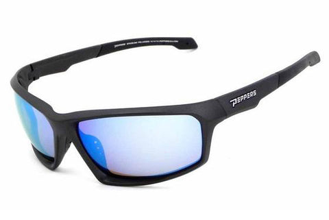 Peppers - Trigger Matte Grey Sunglasses, Diamond Blue Mirror Lenses