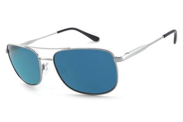 Peppers - Hilo Silver Sunglasses, Blue Mirror Lenses