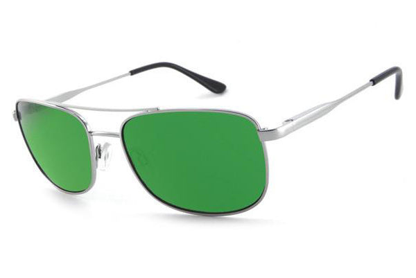 Peppers - Hilo Silver Sunglasses, Green Mirror Lenses