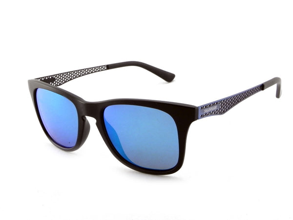 Peppers - Stellar Matte Black Sunglasses / Blue Mirror Polarized Lenses