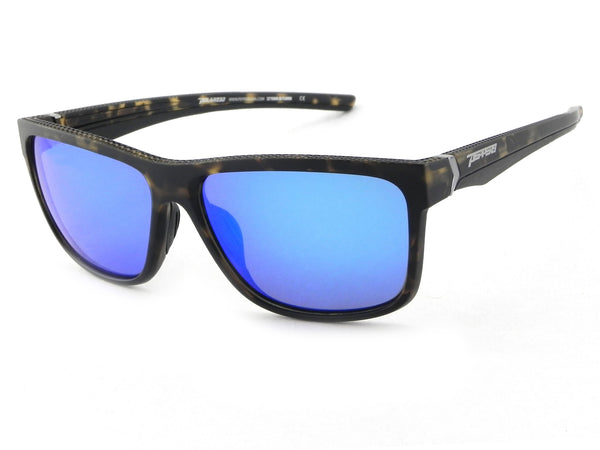 Peppers - Telluride Matte Tortoise Sunglasses / Blue Mirror Polarized Lenses