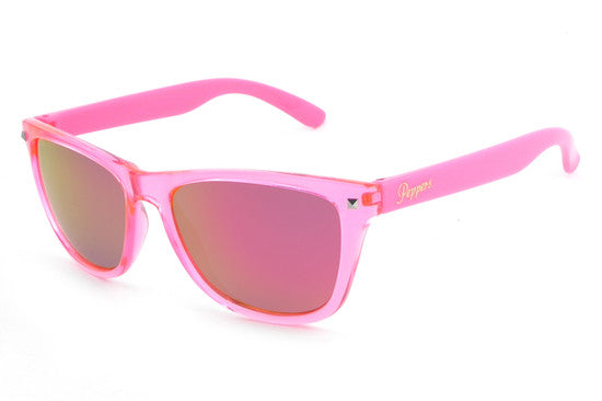 Peppers - Spitfire Pink Sunglasses, Pink Mirror Lenses