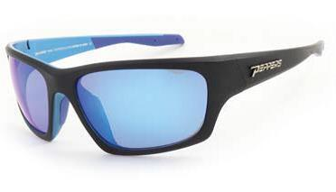 Peppers - Headwall Matte Black Blue Sunglasses / Brown Polarized Ice Blue Mirror Lenses
