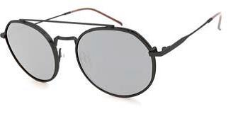 Peppers - Flywheel Matte Black Sunglasses / Smoke Polarized Silver Flash Mirror Lenses