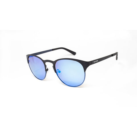 Peppers - Hat Trick Tortoise Black Sunglasses / Brown Polarized Ocean Blue Mirror Lenses