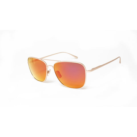 Peppers - Airborne Matte Rose Gold Sunglasses / Brown Polarized Pink Mirror Lenses