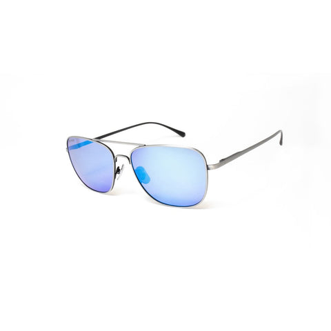 Peppers - Airborne Antique Silver Sunglasses / Brown Polarized Blue Mirror Lenses
