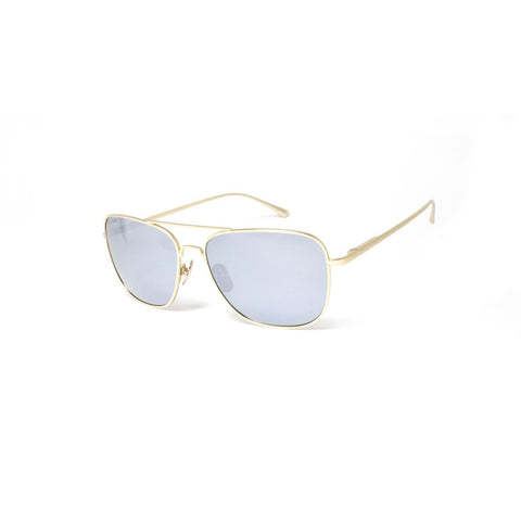 Peppers - Airborne Light Gold Sunglasses / Smoke Polarized Silver Mirror Lenses