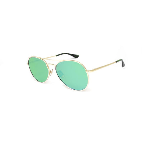 Peppers - Jet Stream Matte Gold Sunglasses / Brown Polarized Green Mirror Lenses