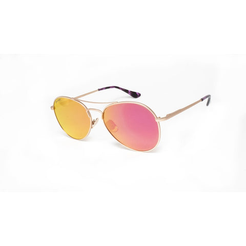 Peppers - Jet Stream Gold Sunglasses / Brown Polarized Red Mirror Lenses