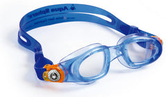 Aqua Sphere - Moby Kid Trans Blue Orange Accents Swim Goggles / Clear Lenses