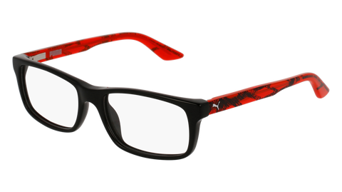 Puma - PJ0009O Junior Black + Red  Eyeglasses / Demo Lenses