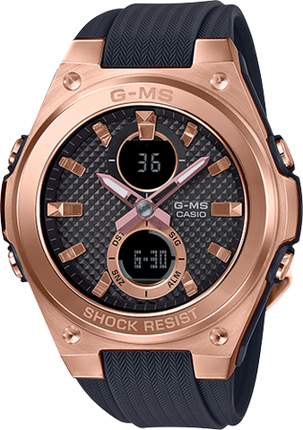 G-Shock - MSGC100G-1A Black Rose Gold Watch