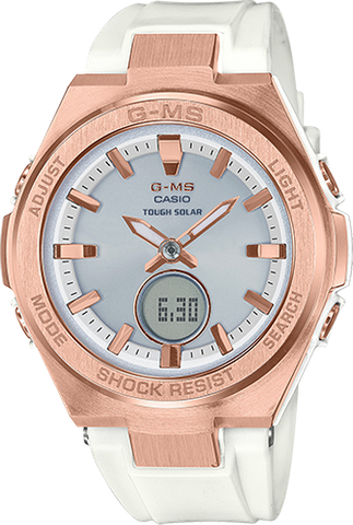Baby-G - MSGS200G-7A White Rose Gold Watch