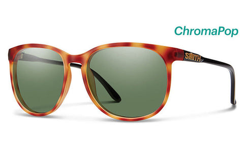 Smith - Mt. Shasta Matte Honey Tortoise/Black Sunglasses, ChromaPop Polarized Gray Green Lenses