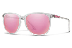 Smith - Mt. Shasta Crystal Sunglasses, Pink Mirror Lenses