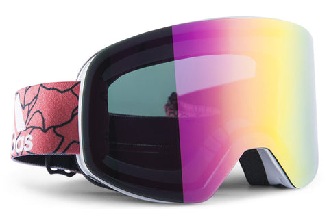 Adidas - Backland White Shiny / Purple Goggles, Purple Mirror (AntiFog) Lenses