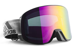 Adidas - Progressor C Black White Shiny / Purple Goggles, Purple Mirror (AntiFog) Lenses