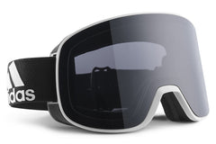 Adidas - Progressor C White Black Matt / Black Mirror Goggles, Black Mirror (AntiFog) Lenses