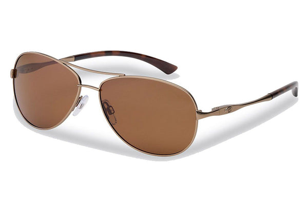 Flying Fisherman - Madeira 7764 Matte Light Brown Sunglasses, Amber Lenses