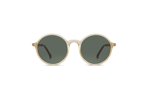 Komono - Madison Metal 50mm Prosecco Sunglasses / Green Smoke Lenses