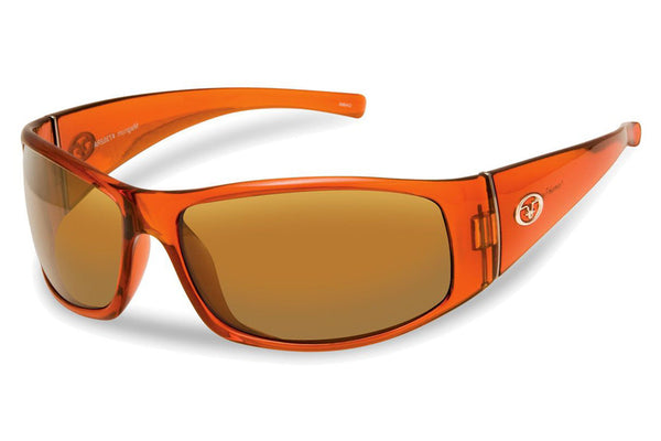 Flying Fisherman - Magnum 7352 Crystal Rust Sunglasses, Amber Lenses