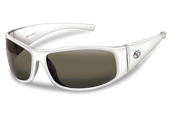 Flying Fisherman - Magnum 7352 Pearl White Sunglasses, Smoke Lenses