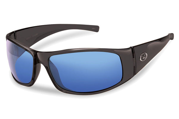 Flying Fisherman - Magnum 7352 Black Sunglasses, Smoke-Blue Mirror Lenses