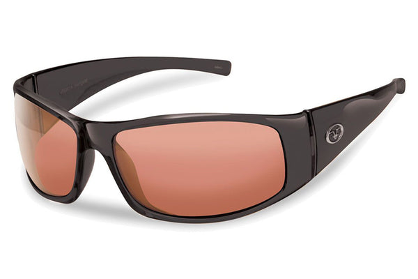 Flying Fisherman - Magnum 7352 Black Sunglasses, Vermillion Lenses