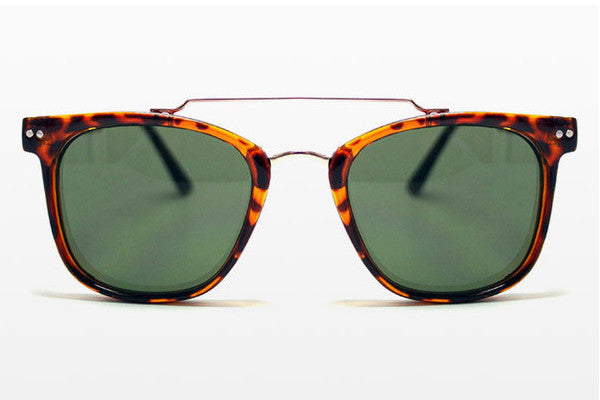 Spitfire - Mainstream 2 Tortoise/Gold Sunglasses, Black Lenses
