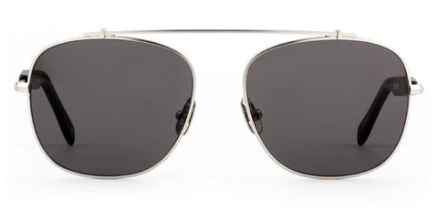 Westward Leaning - Malcolm No Middle 08 Polished Silver Metal Sunglasses / Polarized Grey Lenses