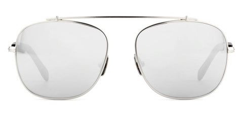 Westward Leaning - Malcolm No Middle 09 Polished Silver Metal Sunglasses / Super Silver Mirror Lenses