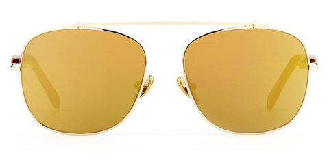 Westward Leaning - Malcolm No Middle 11 Polished Gold Metal Sunglasses / Super Gold Mirror Lenses
