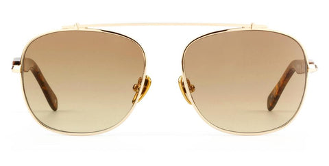 Westward Leaning - Malcolm No Middle 12 Polished Gold Metal Sunglasses / Brown Gradient Lenses