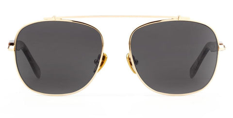 Westward Leaning - Malcolm No Middle 13 Polished Gold Metal Sunglasses / Polarized Grey Lenses