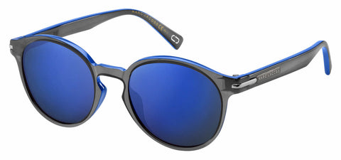 Marc Jacobs - Marc 224 S Black Blue Sunglasses / Blue Sky Mirror Lenses