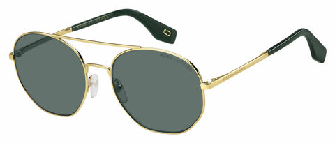 Marc Jacobs - Marc 327 S Gold Green Sunglasses / Green Lenses
