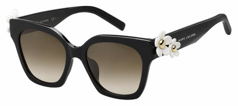 Marc Jacobs - Marc Daisy S Black Sunglasses / Brown Gradient Lenses