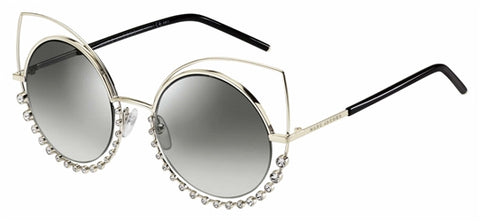 Marc Jacobs - Marc 16 S Light Gold Sunglasses / Gray Mirror Shaded Silver Lenses