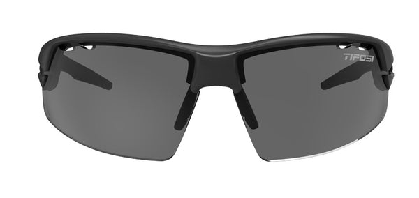 Tifosi Crit Matte Black Sunglasses, Interchangeable AC Red / Clear / Smoke Lenses