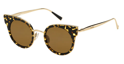 Max Mara - Ilde I Havana Gold Sunglasses / Brown Lenses