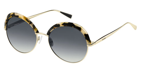Max Mara - Ilde II Havana Light Gold Sunglasses / Dark Gray Gradient Lenses