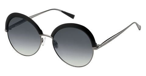 Max Mara - Ilde II Black Dark Ruthenium Sunglasses / Dark Gray Gradient Lenses