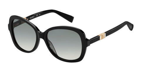 Max Mara - Jewel Black Gold Copper Sunglasses / Gray Gradient Lenses