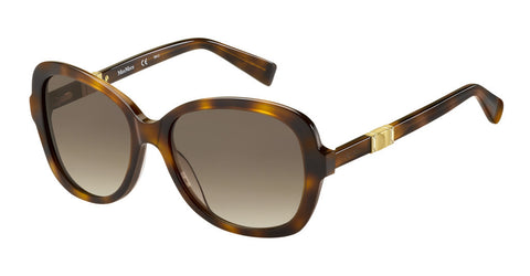 Max Mara - Jewel Havana Rose Gold Sunglasses / Brown Gradient Lenses