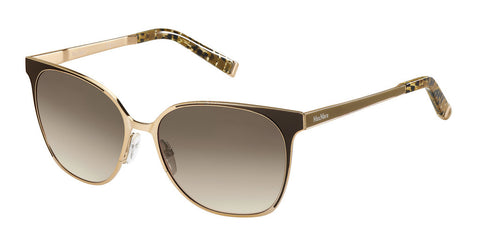 Max Mara - Lacquer Rose Gold Brown Sunglasses / Brown Gradient Lenses