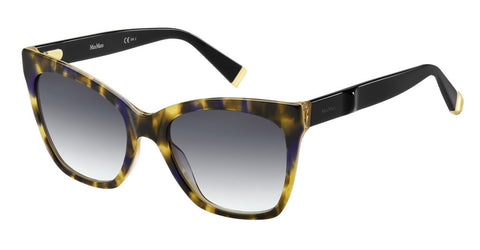 Max Mara - Modern IV Yellow Havana  Black Sunglasses / Dark Gray Gradient Lenses
